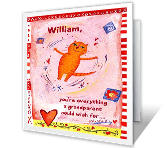 Love for Grandson valentines day printable cards