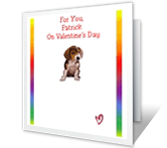 For Great-Grandson valentines day printable cards