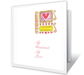 My Husband,<br>My Love valentines day printable cards