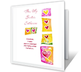 For My Sister valentines day printable cards