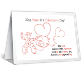 Special Grandson valentines day printable cards