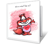 Here's Your Hug! valentines day printable cards