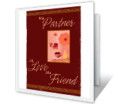 Partner, Lover, Friend valentines day printable cards