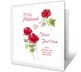 Husband and Soul Mate valentines day printable cards