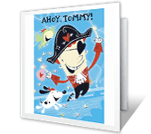 Ahoy, Grandson! valentines day printable cards