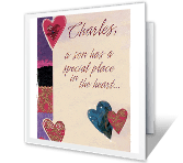A Son's Place in the Heart valentines day printable cards