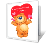 Hugs and Kisses valentines day printable cards