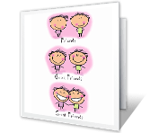 Weird Friends! everyday friend printable cards