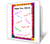 Broken Record saying thanks printable cards