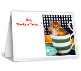 Thanks A Latte saying thanks printable cards