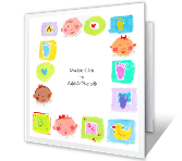 Baby-Shower Gift<br>Add-a-Photo thanks for the gift printable cards