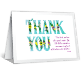 Kind Gesture thanks for the gift printable cards