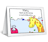 For Coming to My Party thanks for the gift printable cards