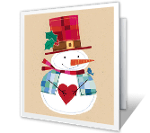 Thank You christmas printable cards