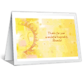 Wonderful Hospitality thanks for hospitality printable cards