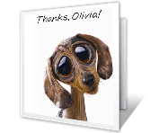 Grateful for You saying thanks printable cards