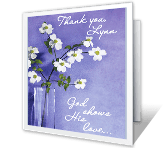 God Bless You saying thanks printable cards