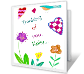 You're Special thinking of you printable cards