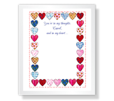 Heart Quilt thinking of you printable cards