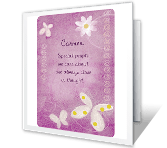 Your Special Way thinking of you printable cards