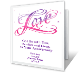 True Love is a Gift happy anniversary printable cards