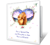 Special Son & Daughter-in-Law happy anniversary printable cards