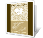 Fifty Years of Love 50th anniversary printable cards