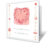 For My Wonderful Wife happy anniversary printable cards