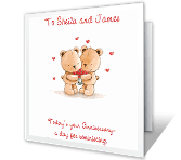 Love Found Both of You happy anniversary printable cards