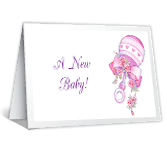 Proud as Can Be congratulations on baby printable cards