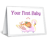 First Baby congratulations on baby printable cards