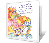 God's Sweetest Creation congratulations on baby printable cards