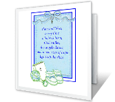 Little Bit of Heaven congratulations on baby printable cards