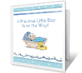 Shower for Baby Boy baby shower printable cards