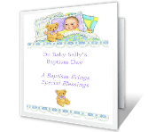 Special Blessings baptism printable cards