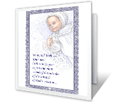For Baby Boy baptism printable cards