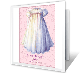 Baby Girl baptism printable cards