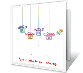 Wishes for Mommy parents-to-be printable cards