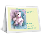 Heaven-sent Parents congratulations on baby printable cards