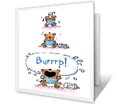 Burrrp! congratulations on baby printable cards