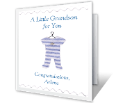 Little Grandson new grandchild printable cards