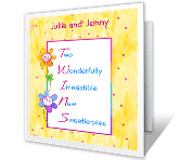 Double Congratulations twins printable cards