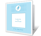 New Baby Boy<br>Add-a-Photo birth announcement printable cards