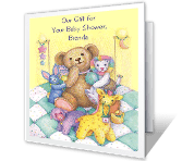 We're Delighted baby shower printable cards