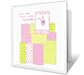 Welcome, Little Girl congratulations on baby printable cards