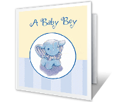 Sweet Baby Boy congratulations on baby printable cards