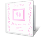 Precious Baby Girl Moments congratulations on baby printable cards