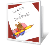 Third Grade Fun back to school printable cards