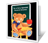 Special Second-Grader back to school printable cards