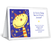Reach for the Moon back to school printable cards